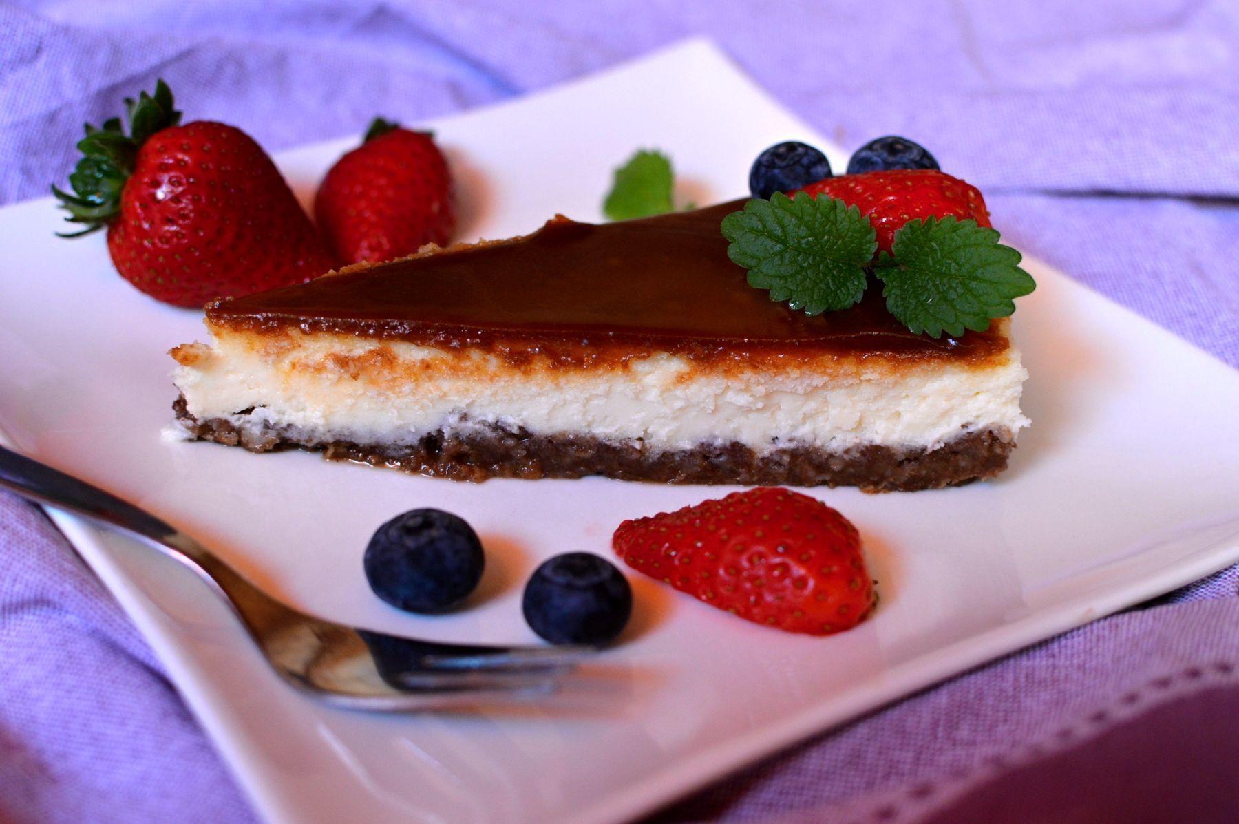cheesecake se slaným karamelem