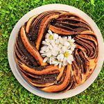 čokoládový závin ve tvaru věnce
