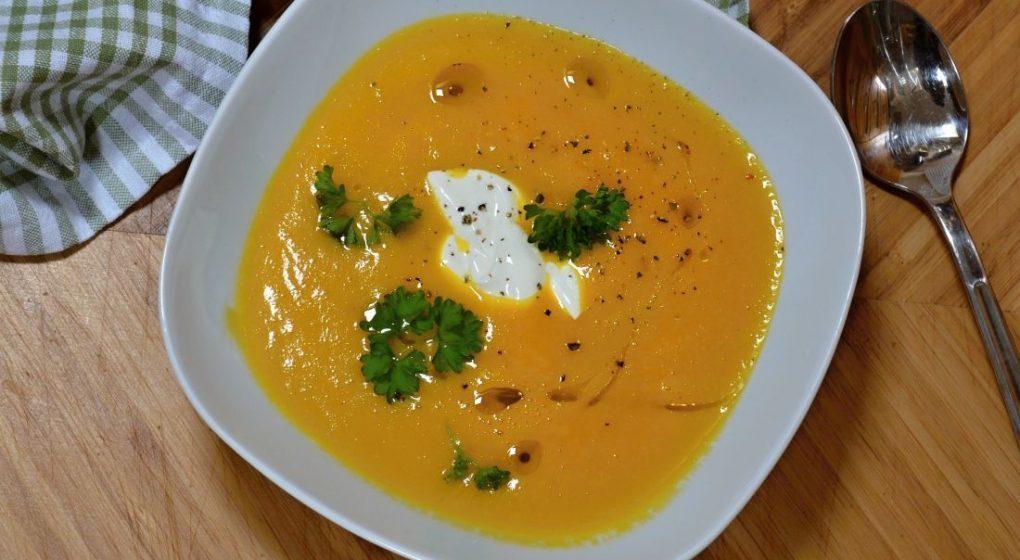mrkvový krém polévka recept