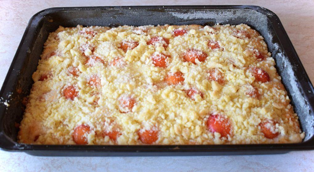 meruňkový koláč na plech