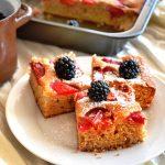 celozrnný koláč na plech recept
