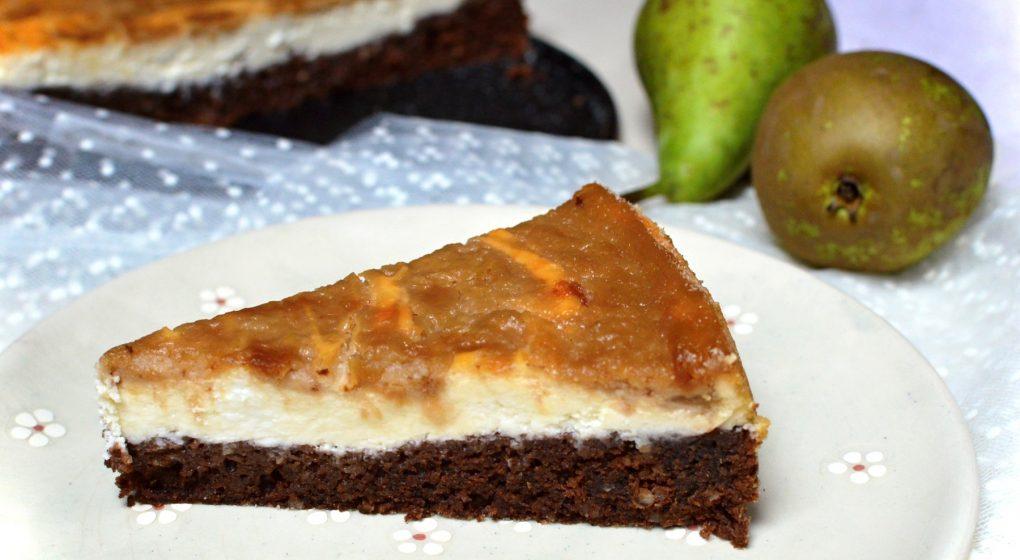 hruškový koláč s tvarohem
