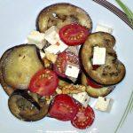 salát z grilovaného lilku a feta sýru, recept