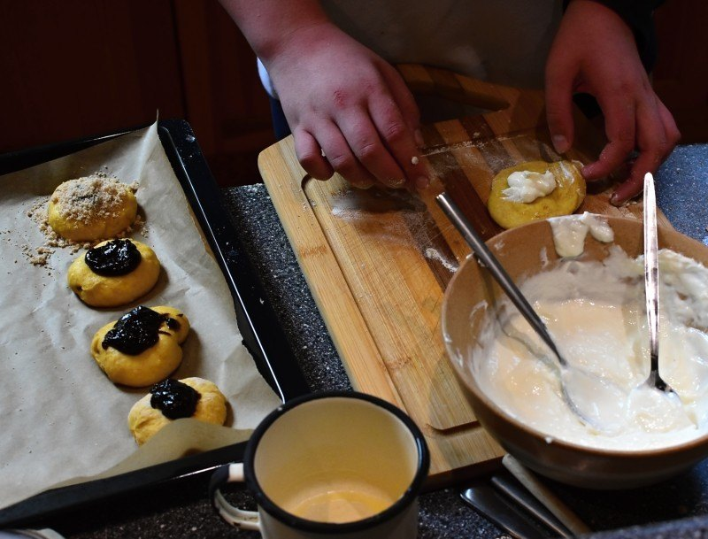 příprava dvojctihodných koláčů