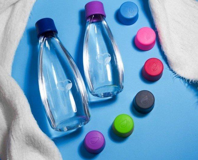 skleněné láhve na vodu retap