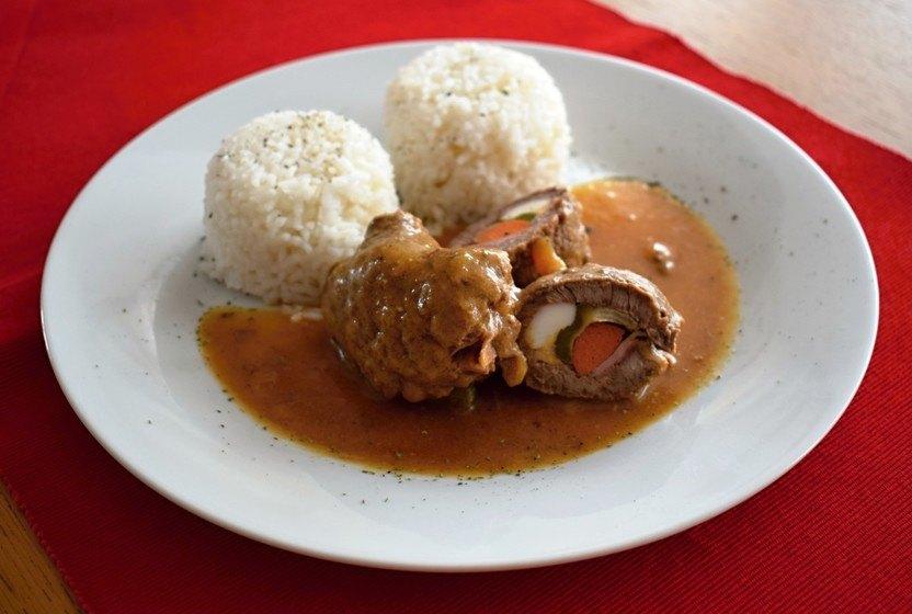 španělský ptáček s rýží recept