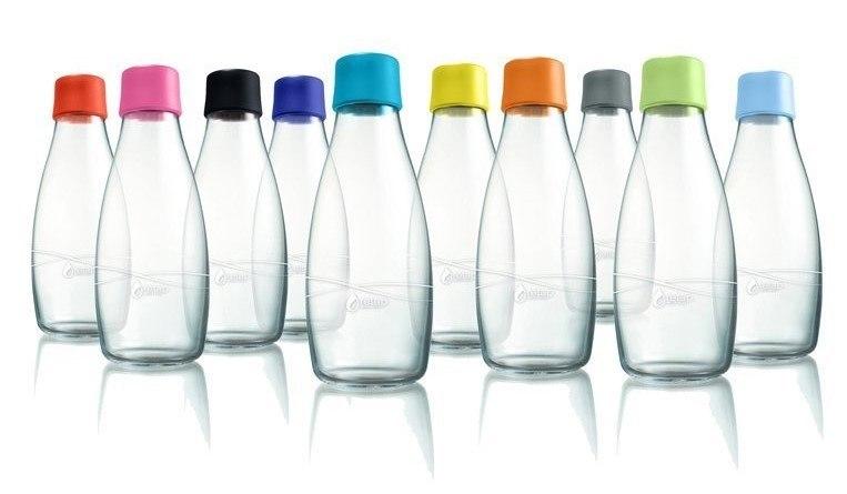 ekologické lahve na vodu retap skleněné