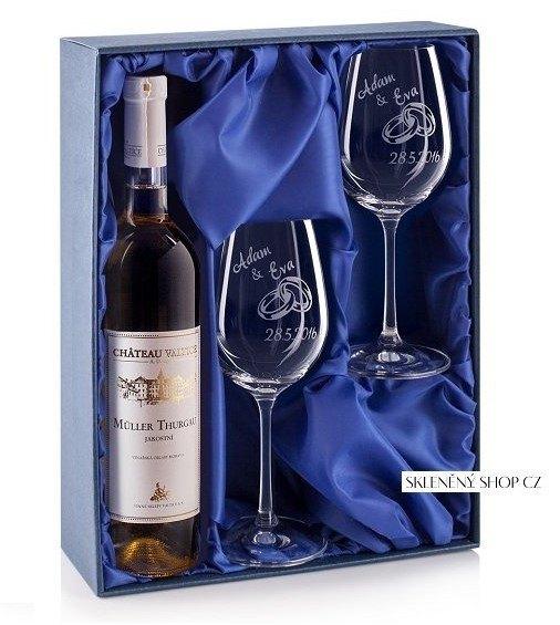 luxusní dárkové krabice na svatební skleničky