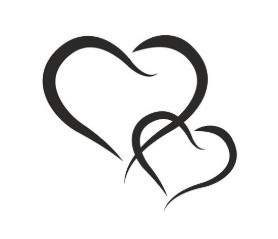 pískovaný motiv srdce