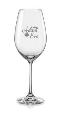svatební sklenice na víno
