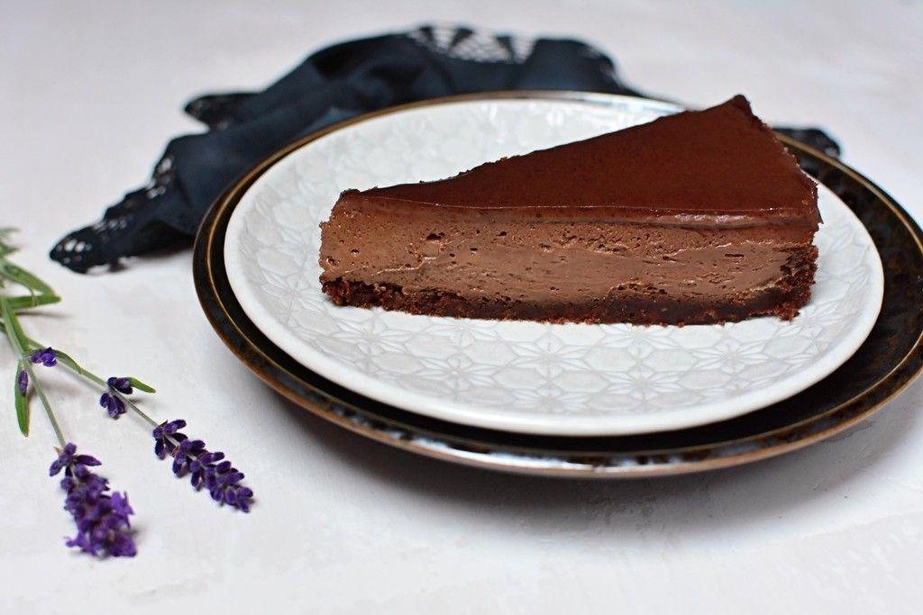 Pečený čokoládový cheesecake