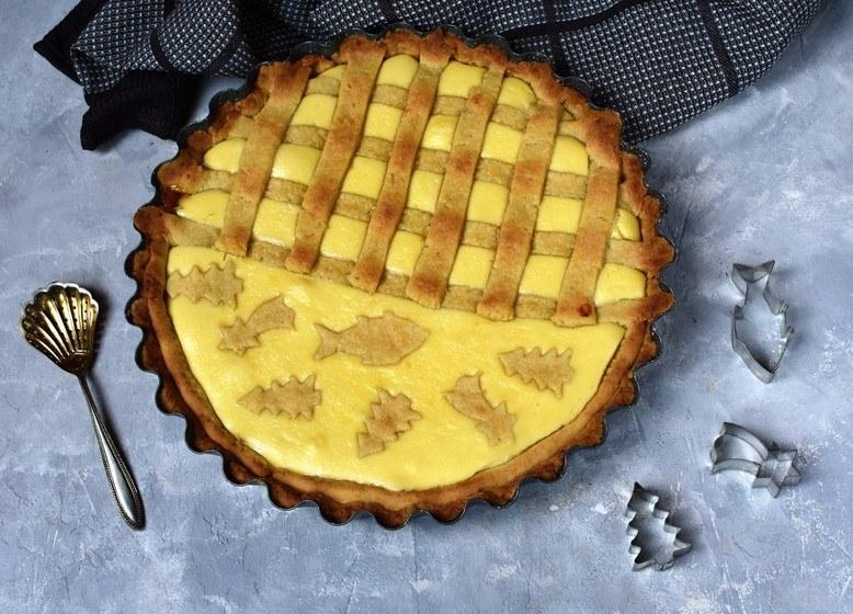 mřížkový koláč z křehkého těsta