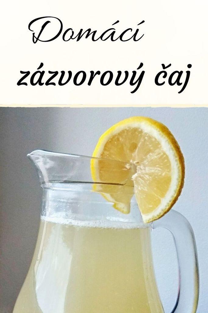 domácí zázvorový čaj