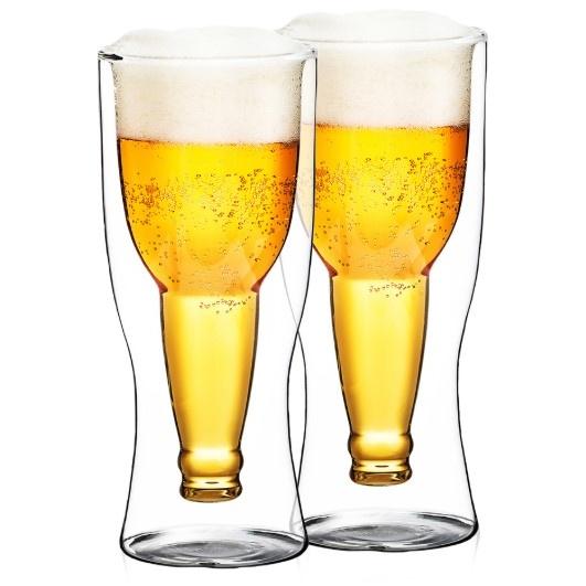 termo sklenice na pivo 2 ks sada
