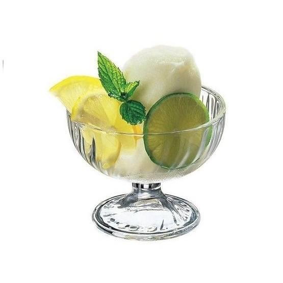zmrzlinový pohár sklo