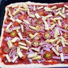 domácí pizza na plech