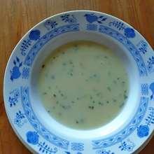 zdravá krémová česnečka recept