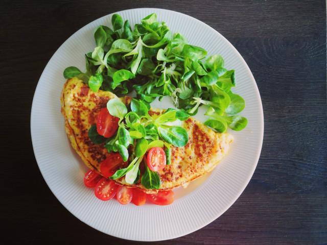 bílkovinná snídaně vaječná omeleta
