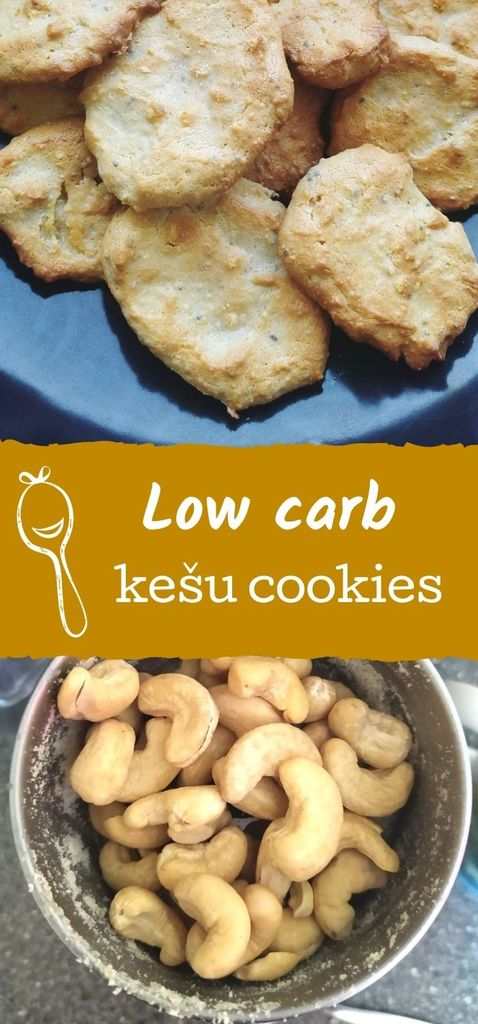 low carb kešu cookies